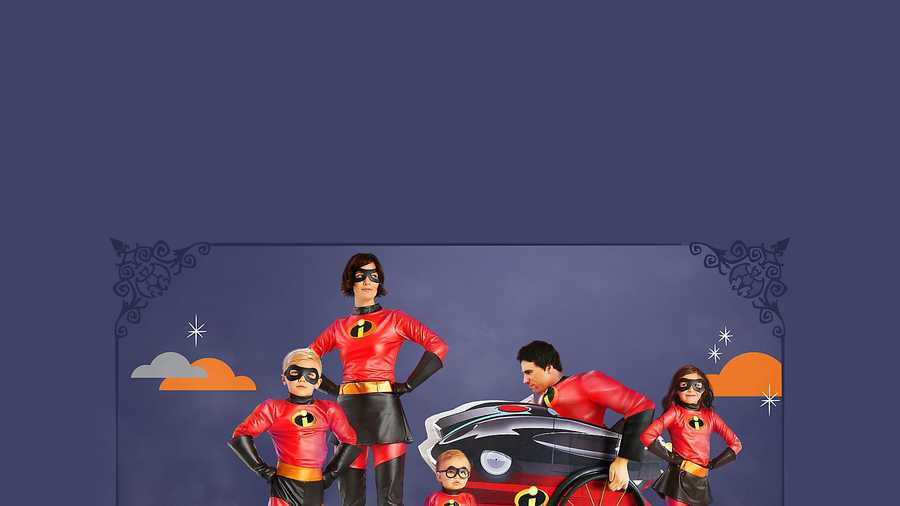 the incredibles family halloween costumes