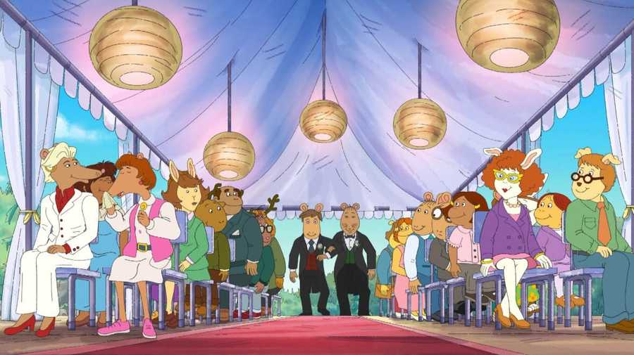 Mr Ratburn's wedding to his husband in children's show Arthur
