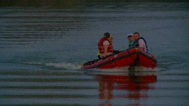 A couple was rescued from Lake Heron at Raccoon River Park Sunday night.