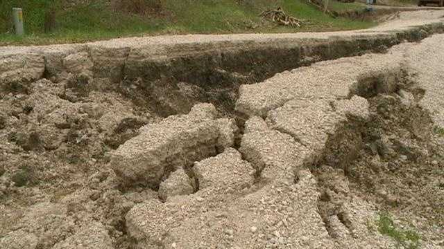 A road collapsed in Lehigh due to the extremely wet weather, cutting off access to one home, and its residents said the city is not doing its part to help.