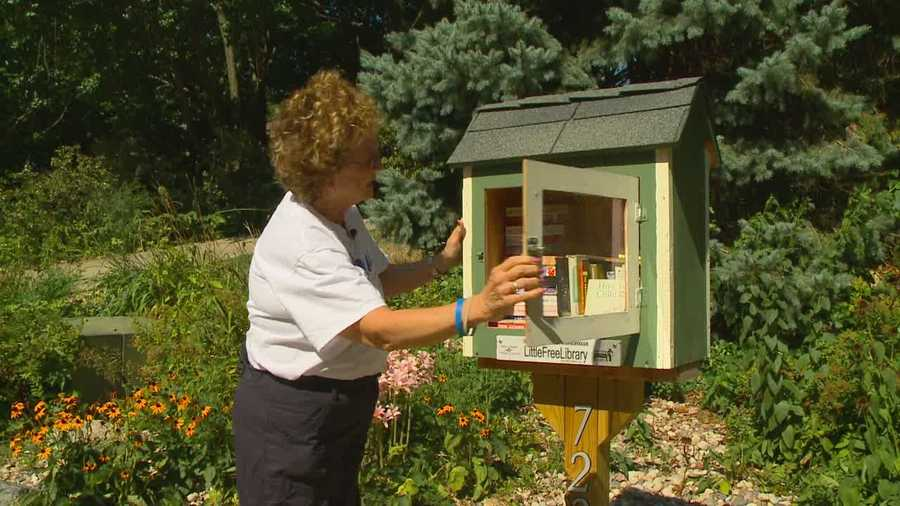 The tiny libraries allow people to read a book or donate one.