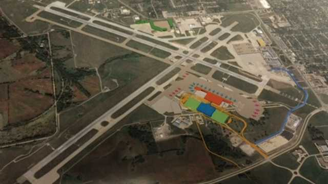 A plan for a new terminal building at the Des Moines Airport.