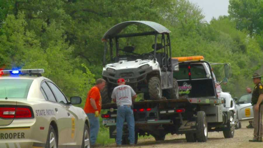A 6-year-old girl was critically injured when an ATV driven by her father rolled over on her.