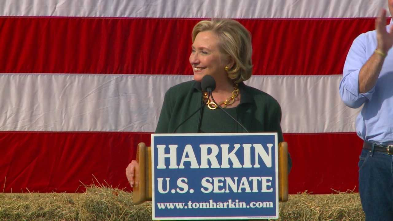 Sunday was the final Harkin Steak Fry, and Sen. Tom Harkin invited some heavy hitters to the event on the balloon fields of Indianola.