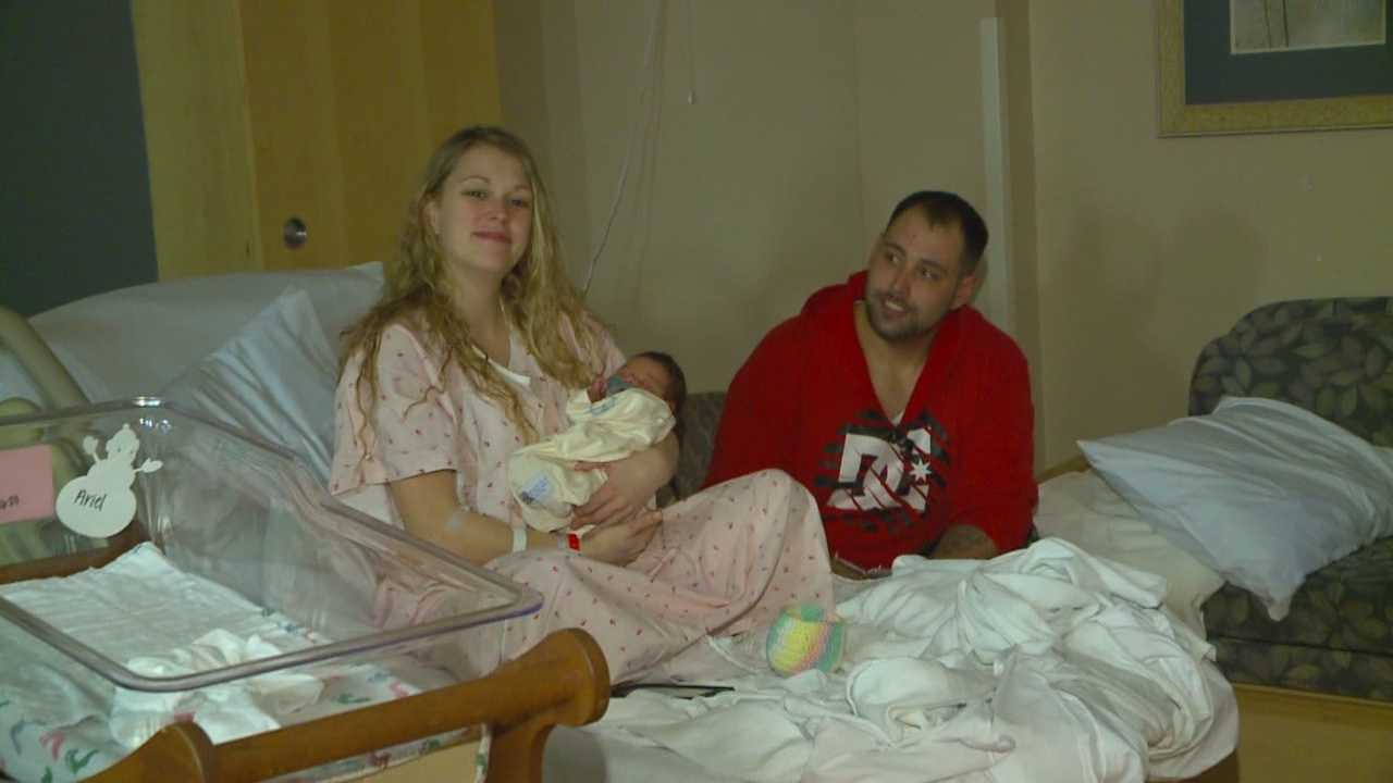 One Iowa mom delivered her baby in a car speeding down the interstate.