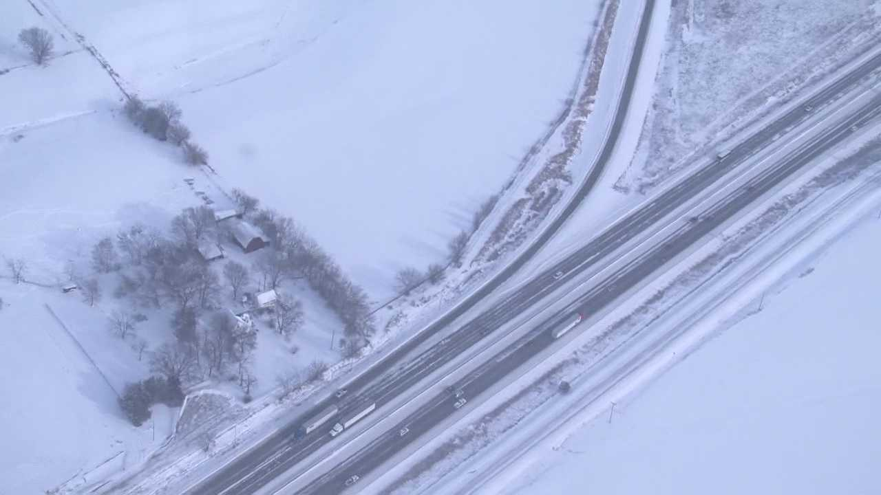 Yesterday's storm caused almost 200 crashes across the state, including several chain reaction crashes.  The storm also sent lots of cars into ditches along the interstates and highways.