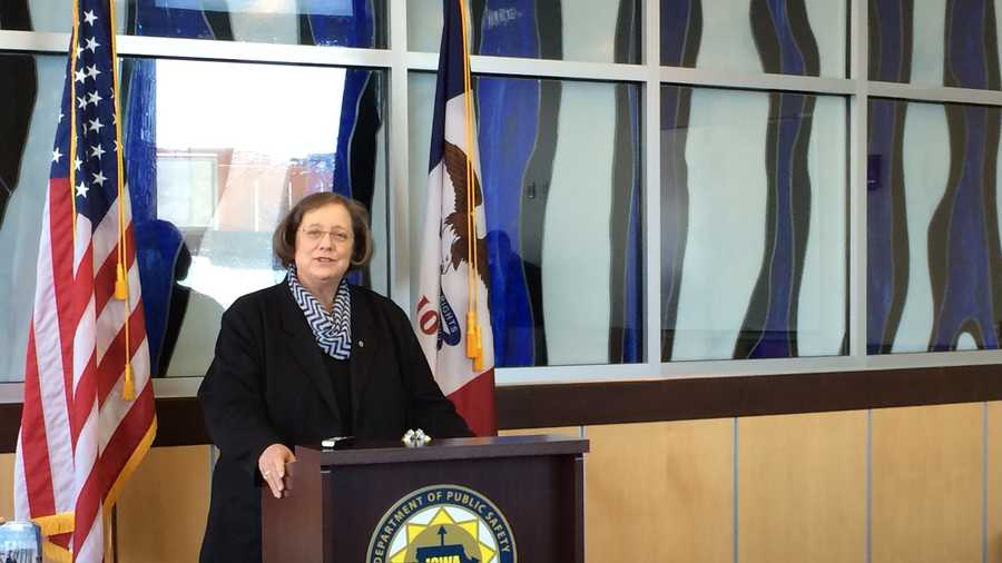 Roxann Ryan named commissioner Iowa Department of Public Safety.