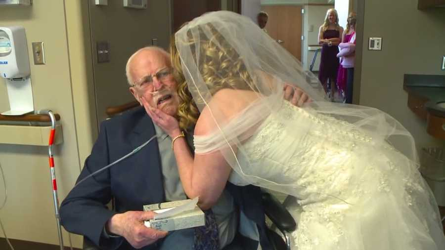 The man said he wanted nothing more than to walk his daughter down the aisle for her wedding.