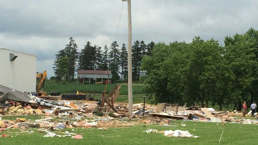 A house explosion reported in Jackson County Iowa.