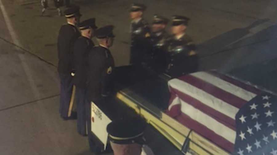 The homecoming of a fallen Iowa soldier was met with grief this weekend in Des Moines.