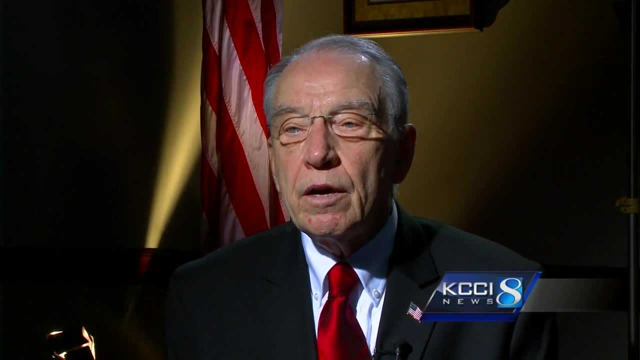 KCCI anchor Steve Karlin interviewed Sen. Charles Grassley Tuesday following at meeting at the White House on the Supreme Court nomination process.