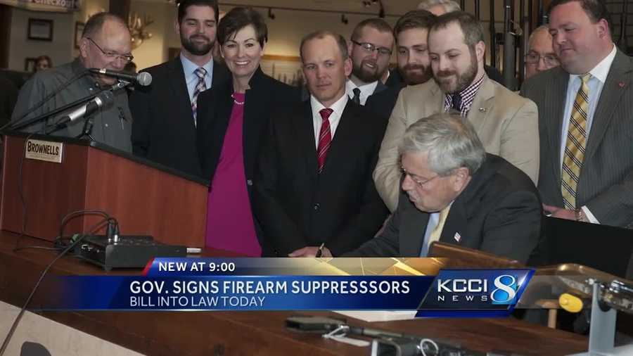 Gov. Terry Branstad has signed a bill into law that legalizes the use of gun suppressors in Iowa.