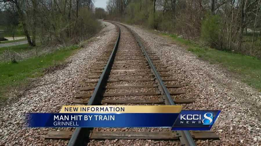 man struck by train