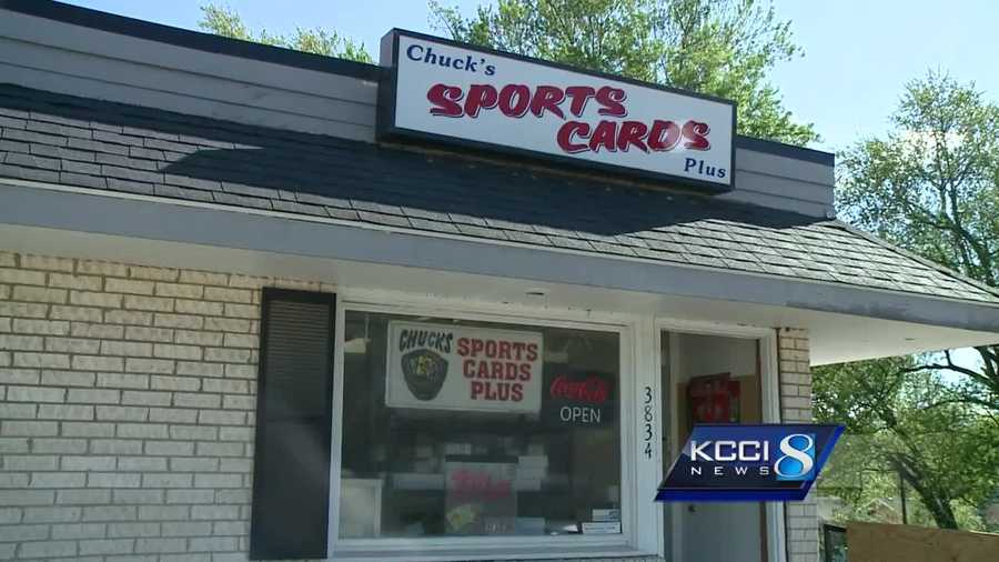 Chuck's Sports Cards Plus is recovering after a burglar got away with thousands of dollars worth of baseball cards.