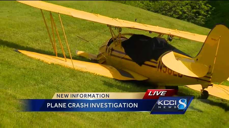 The biplane crashed in West Des Moines Thursday night.