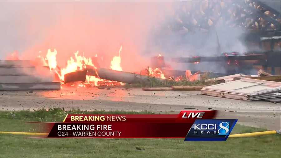 Emergency crews were called to a fire at a building under construction in Warren County.