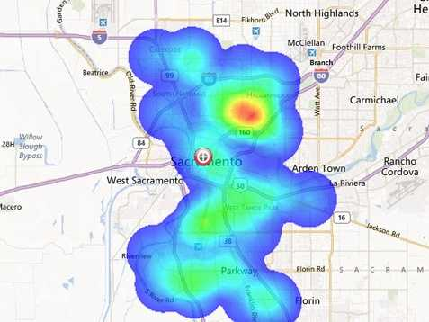 Heat map of Sacramento crime Zillow Crime Map on seattle crime map, google crime map, local crime map,