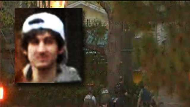 Dzhokhar Tsarnaev was taken into custody by police at approximately 8:45 p.m.