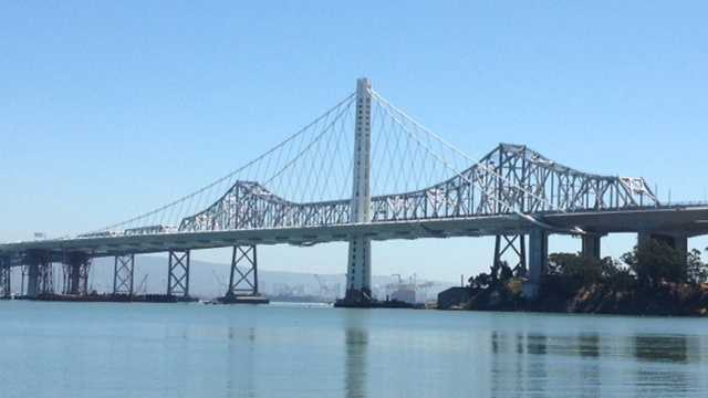 This month, federal officials signed off on a temporary fix for cracked seismic safety bolts on the bridge's span.