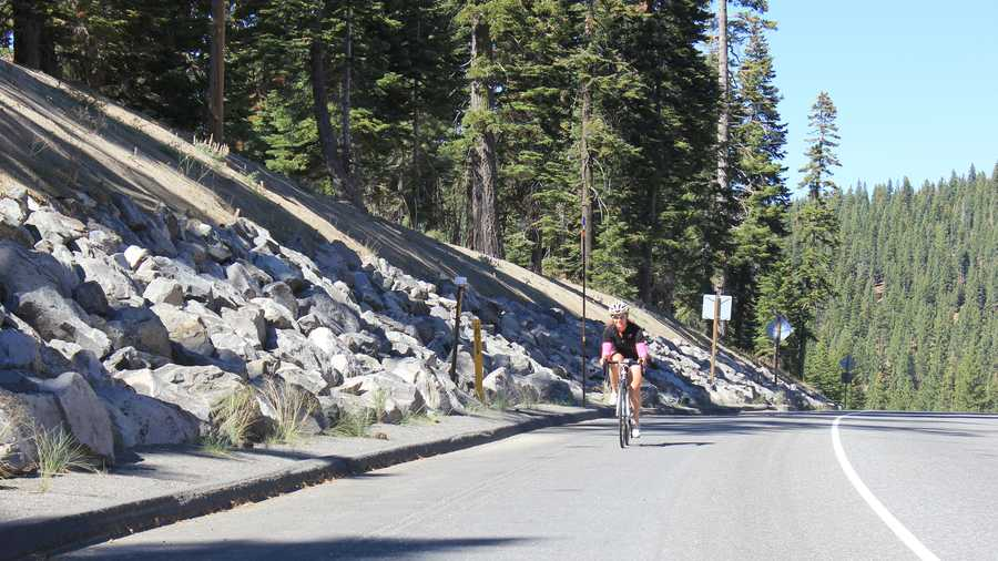 The athletes transition from a swim, to the 112-mile bike ride, to run a marathon -- winding 26.2 miles along the Truckee River.