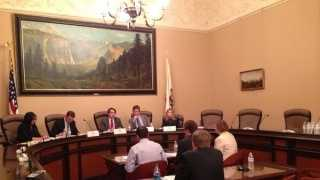 Ride-sharing executives testify at the California state Capitol on how to regulate rules for the road (March 21, 2014).