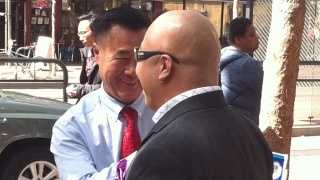"Sen. Leland Yee, at left, and Raymond Chow, also known as ""Shrimp Boy."""