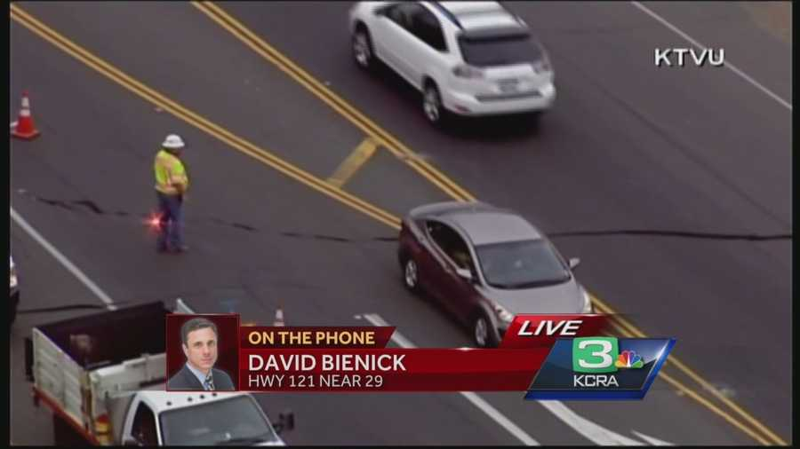 KCRA 3's David Bienick reports from Napa were authorities are assessing some of the damage to infrastructure, including a large crack on Highway 121, which is a major connection between Napa and Sonoma.