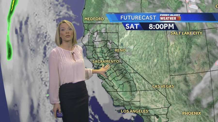 KCRA 3 First Alert Meteorologist Eileen Javora shows when drier weather.