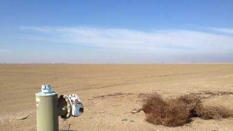 This photo taken by KCRA's David Bienick this summer shows the startling impact the drought had on parts of California's Central Valley.
