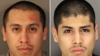 Julio Cesar Chavez, at left, and Salvador Diaz Jr. (mugshots released Feb. 19, 2015).