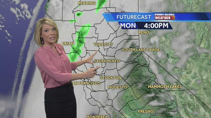 KCRA 3 First Alert Meteorologist Eileen Javora shows where to expect rain