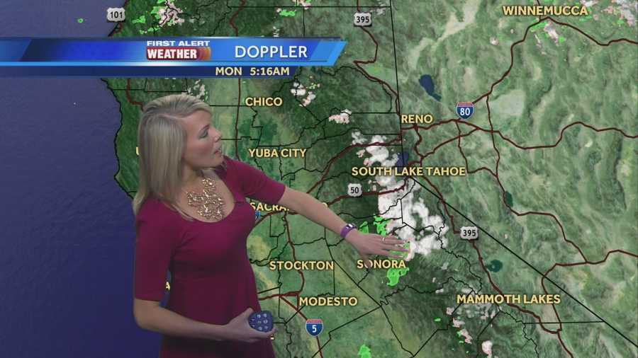 First Alert Weather Meteorologist Tamara Berg shows us where the rain and snow is falling and how long it will last.