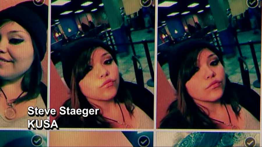 A woman who allegedly stole another woman's iPhone seem to have been enjoying herself. The phone's owner said the thief's selfies have been showing up on her Facebook account, which is connected to the phone.