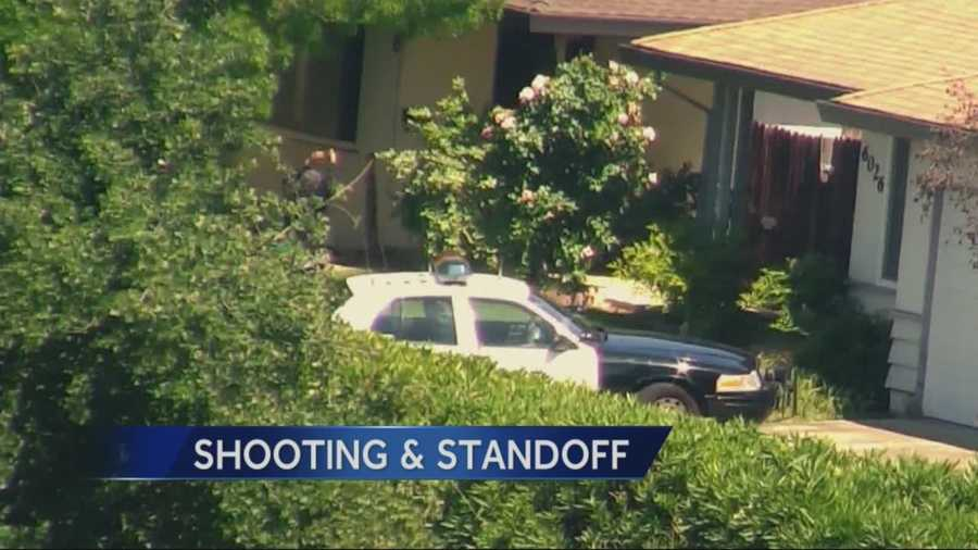 KCRA 3's David Bienick reports from the scene of a shooting that critically wounded a woman and sparked a five-hour standoff during which the suspect fired at Sacramento County sheriff's deputies.