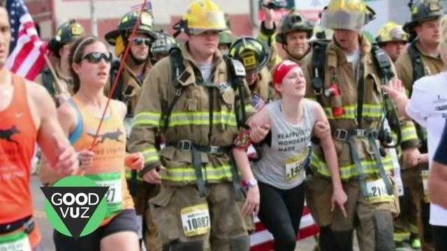 Local firefighters help a runner with cerebral palsy reach her goal, and cross the finish line at the Oklahoma City Memorial Marathon. Sean Dowling (@seandowlingtv) has more on the heartwarming video you have to see.