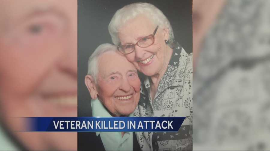 The widow of a World War II veteran who was beaten and later died from injuries that were inflicted in a home invasion robbery is pleading for information on who killed her husband.