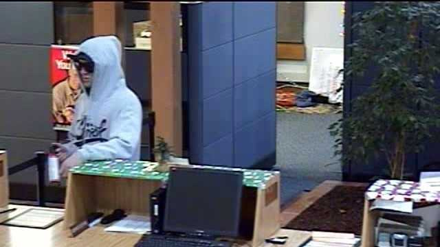 Bank thief approached the counter at Sierra Credit Union with an unknown aerosol type can and demanded cash from teller on Monday, Dec. 28 around 9:00 a.m.