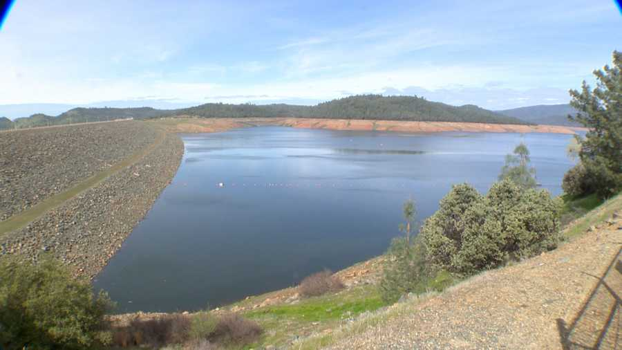 Lake Oroville is California's second largest reservoir.