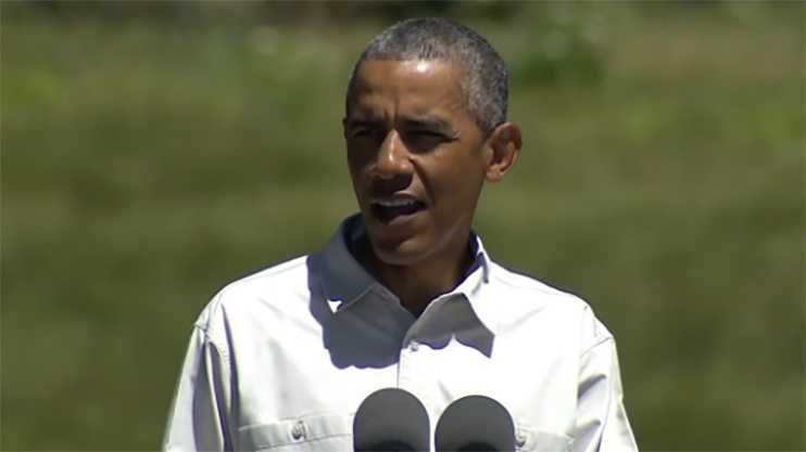 President Obama speaks at Yosemite National Park on Saturday.