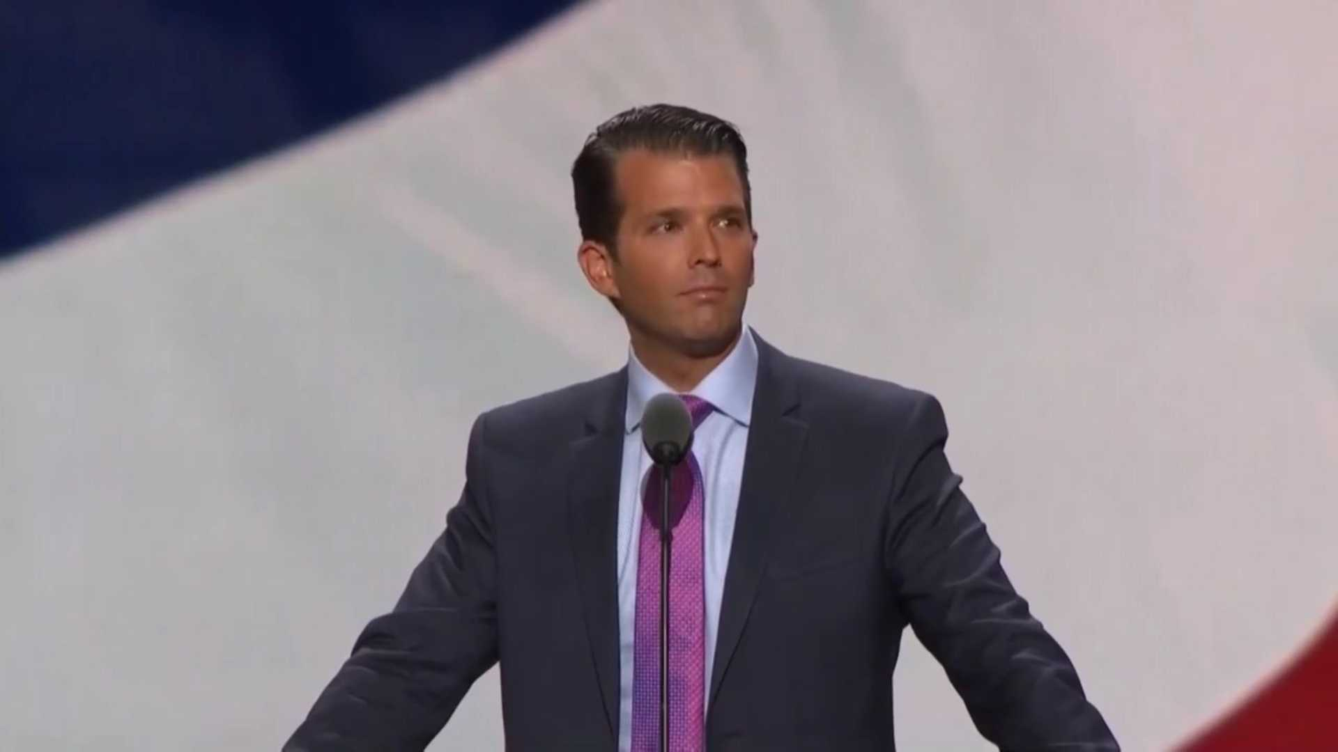 Donald Trump Jr. spoke at the Republican National Convention on Tuesday, July 19, 2016.