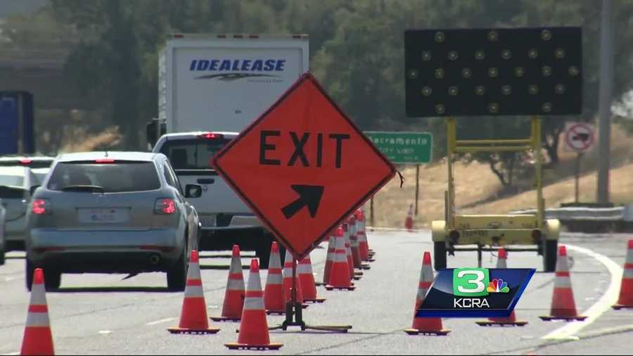 CalTrans is warning drivers to expect delays on I-80 in Sacramento as they funnel traffic into one lane for road work.