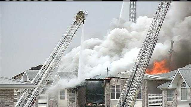 Omaha firefighters still can't believe they made it out of the Hillsborough Point Apartments on Thursday.