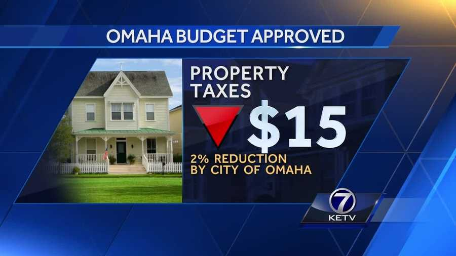 Omaha residents will pay slightly less in property taxes.