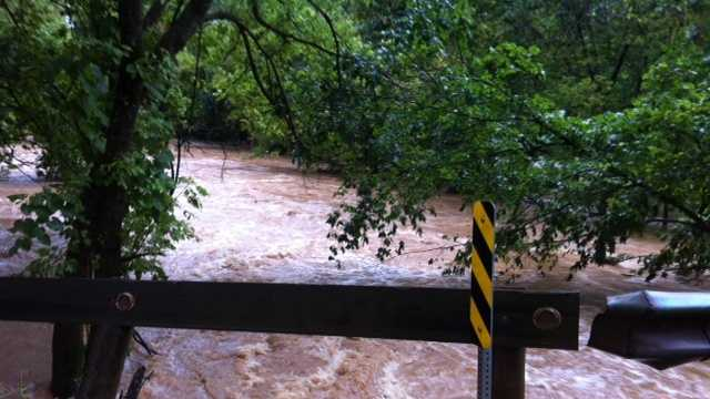 Little Sugar Creek, Avoca floods
