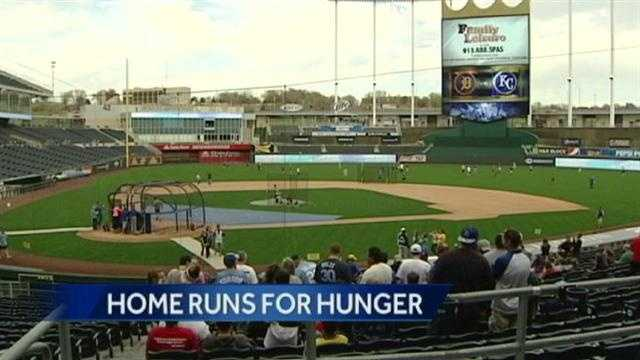 The Kansas City Royals hit a home run for Harvesters.