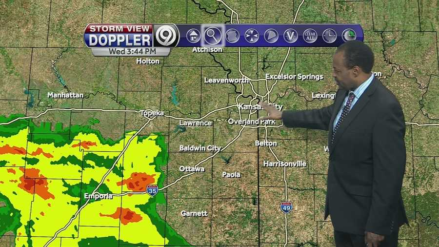 KMBC's Bryan Busby tells us when the rain is expected to end tonight and when possible severe storms could form tomorrow.