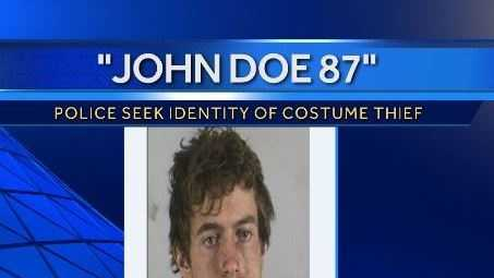 "Kansas City police want to know who ""John Doe 87"" is.  Jackson County prosecutor Jean Peters Baker says the 25-year-old stole a costume Thursday night."