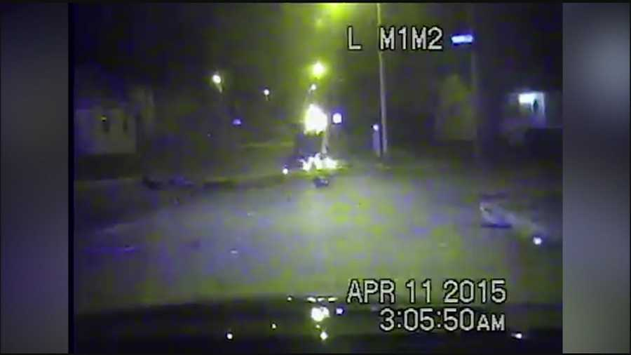 Kansas City police have released dashcam video of a driver fleeing police just before a fiery crash early Saturday morning.
