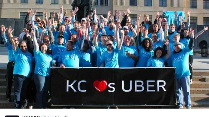 "Uber says it is ""here to stay"" in Kansas City."