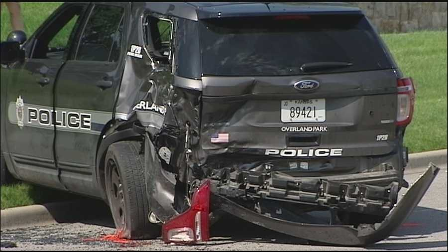 An Overland Park police officer who was struck and injured during a traffic stop Sunday morning has been struck three times in less than three years.